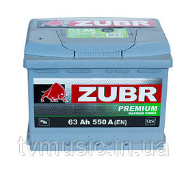 Автомобильный аккумулятор ZUBR PREMIUM 6 СТ-63 (стандарт) 550А