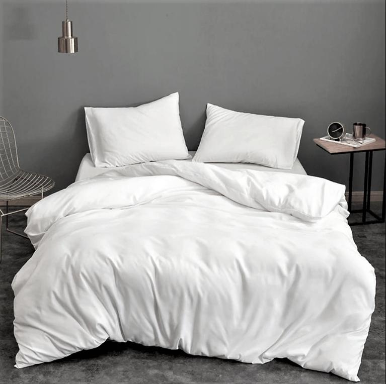 Постельное белье из однотонной бязи ГОСТ Белый ТМ Moonlight двуспальный