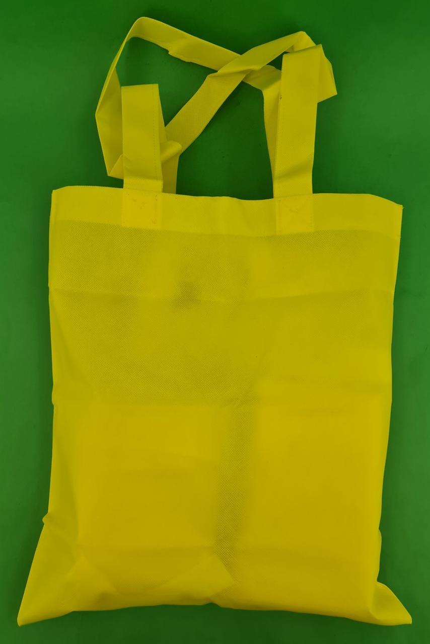Сумка жовта (спанбонд) 37х41 см ручка 36 см (1 шт)