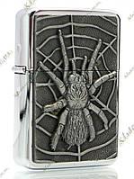 Зажигалка бензиновая Spider (бронза), фото 1