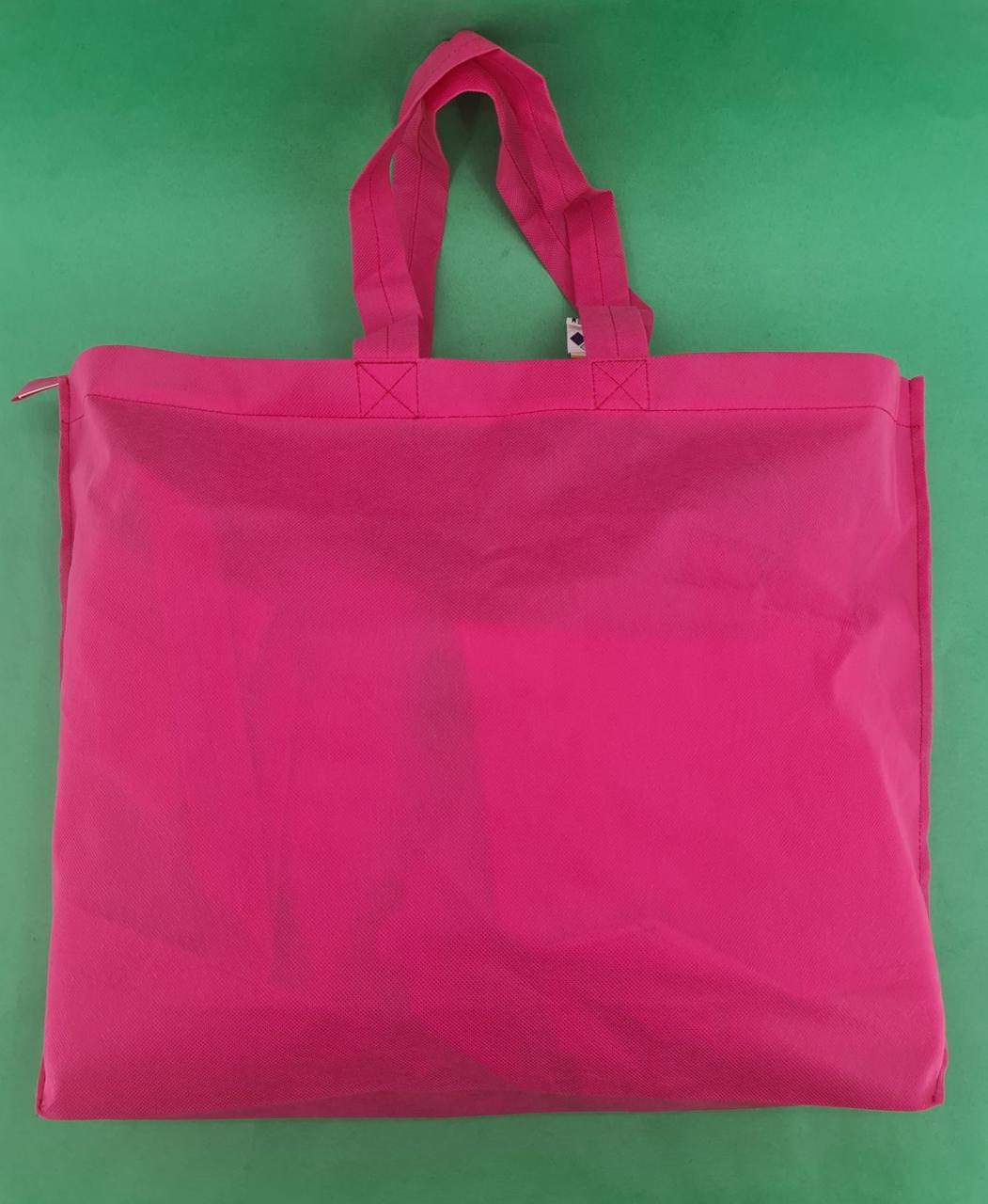Сумка на блискавці рожевий (спанбонд) 38х53 см (1 шт)