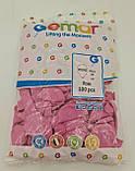 """Воздушные шарики пастель розовый 10"""" (25 см) Gemar 100 шт (1 пач), фото 3"""