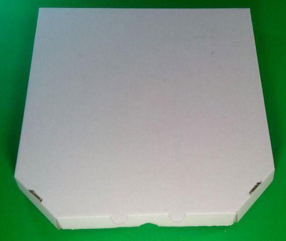 Коробка для піци з гофрокартону біла 450*450*40мм 50 шт