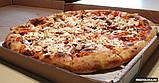 Коробка для піци з гофрокартону біла 450*450*40мм 50 шт, фото 2