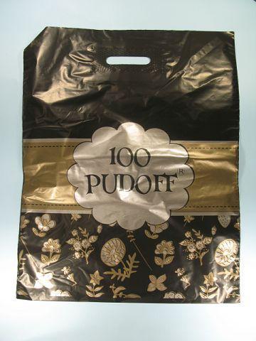 """Пакет с прорезной ручкой(40*50)""""  100 PUDOFF"""" Леоми (50 шт)"""