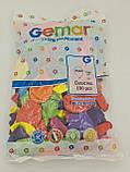 """Надувні кульки асорті пастель 10"""" (25 см) 100 шт (1 пач.), фото 2"""