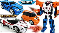 Робот Трансформер Tobot Тобот Tritan Champion 32 см ,Тритан Чемпион, 3 машинки 506