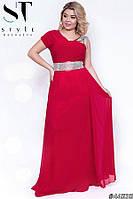 Женское платье на праздник,Ткань:Масло, шифон, стрейч-атлас,с декором со стразами(48-52), фото 1