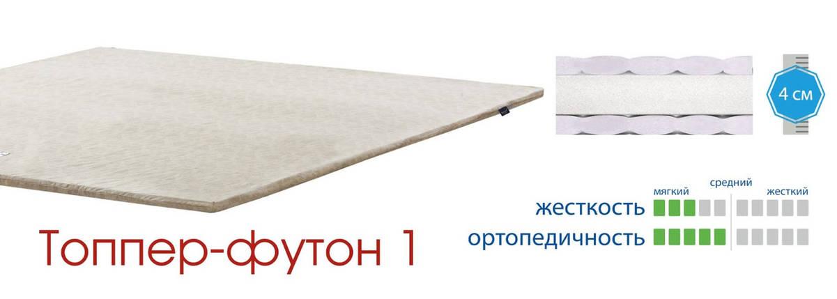 Ортопедический беспружинный матрас Matroluxe / Матролюкс Topper-futon 1 / Топпер-футон 1 бязь / жаккард, фото 2