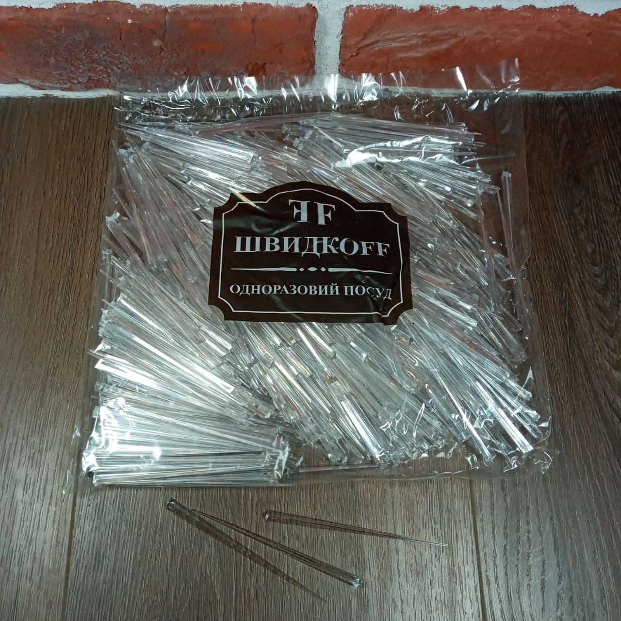 Шпажка для канапе Кристалл 500шт. прозрачный