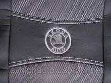 Чохли Nika Skoda Rapid чорні , разрезное заднє сидіння