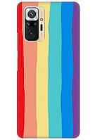 Чехол Silicone Case full для Xiaomi Redmi Note 10 Pro Радуга