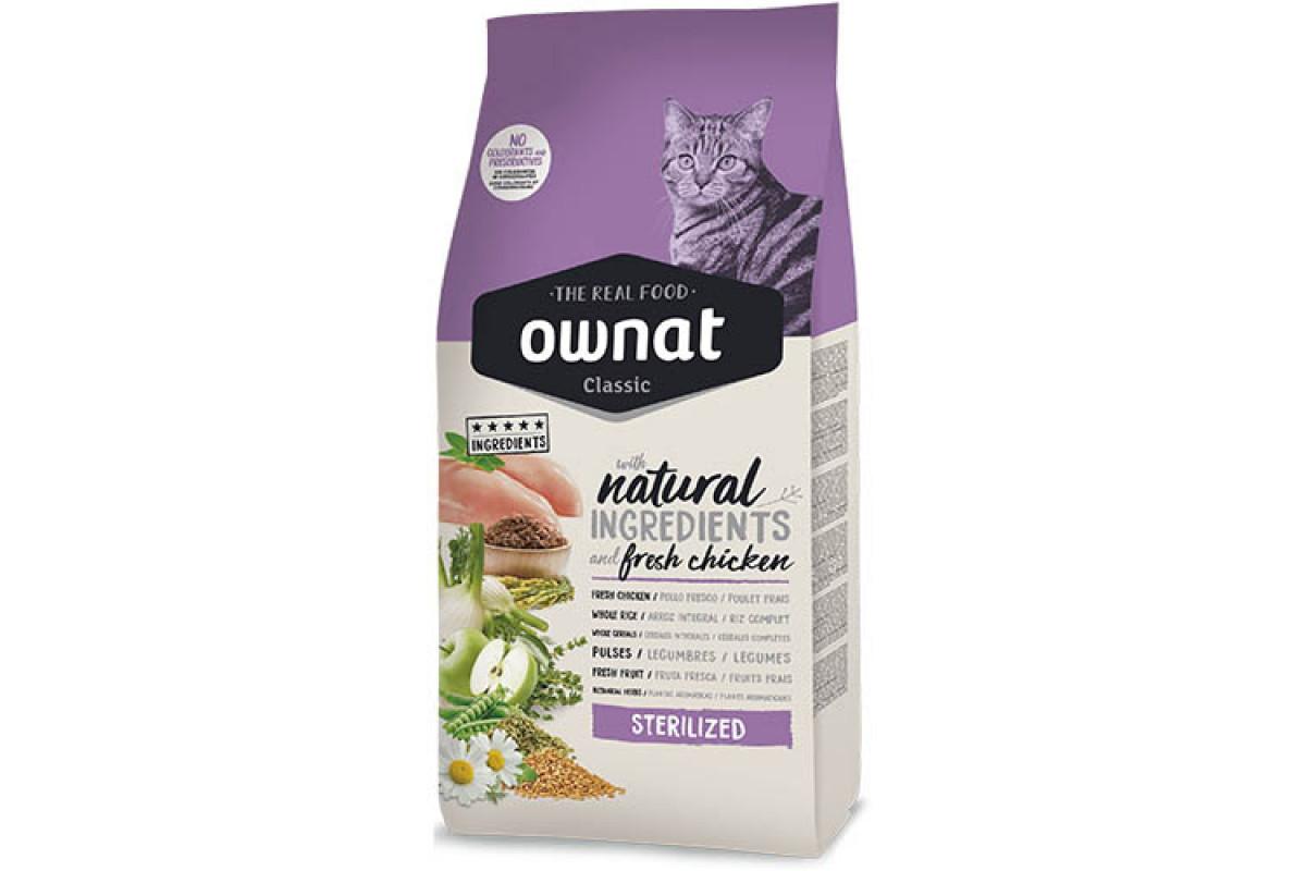 Ownat Classic Sterilized (Cat) 15 кг сухий корм для стерилізованих котів і кішок
