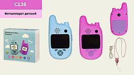 Дитяча цифрова камера C136 (50шт) 2 кольори, режим рації, р-р іграшки– 6.5*2.5*12.5 см, в кор. 14,5