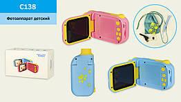"""Дитяча цифрова камера відео C138 (50шт) з картою пам""""яті, 2 кольори, р-р іграшки– 11*3.5*5.5 см, в к"""