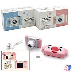 """Дитяча цифрова камера C137 (50шт) з картою пам""""яті, 2 види чохлів на камеру, р-р іграшки– 8.6*5*5."""