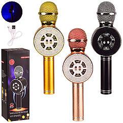 Микрофон-караоке M155 (50шт) 3 цвета, в кор. 8.5*7.5*27 см, р-р игрушки – 8*6*24.5 см