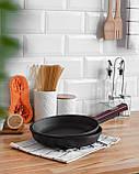 Сковорода чавунна Optima-Bordo, 260х40мм, фото 5