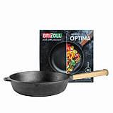 Сковорода чавунна Optima, 240х60 мм, фото 2