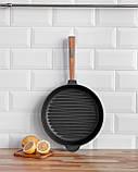 Сковорода чавунна гриль BRIZOLL Optima, 280х50 мм, фото 4