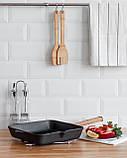Сковорода чавунна гриль Optima-Black, 260х260х50 мм, фото 5