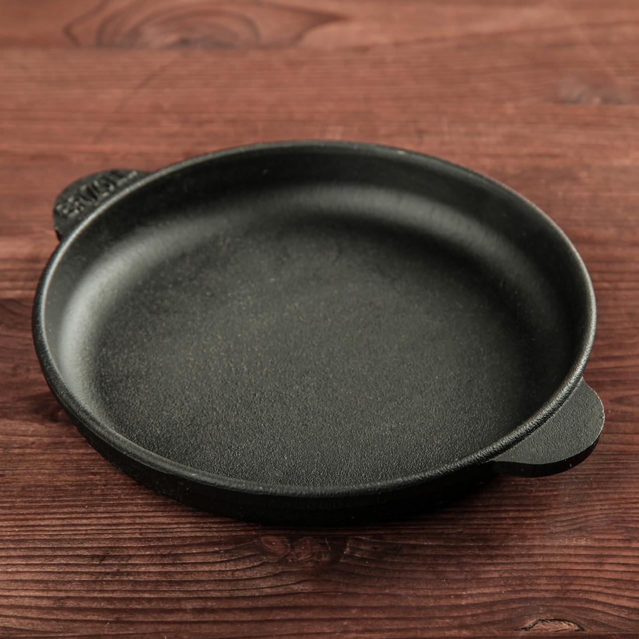 Сковорода порционная чугунная HoReCa Brizoll Бризоль140х25 мм диаметр 14 см  650 грамм H1425