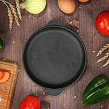 Сковорода порционная чугунная HoReCa Brizoll Бризоль140х25 мм диаметр 14 см  650 грамм H1425, фото 3