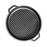 КАЗАН ЧАВУННИЙ АЗІАТСЬКИЙ з кришкою-сковородою гриль BRIZOLL 15 літрів з кришкою-сковородою гриль, фото 5