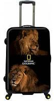 Стильный большой мужской 4-х колесный чемодан 121 л. NATIONAL GEOGRAPHIC, BIG CATS N021HA.71;09 черный