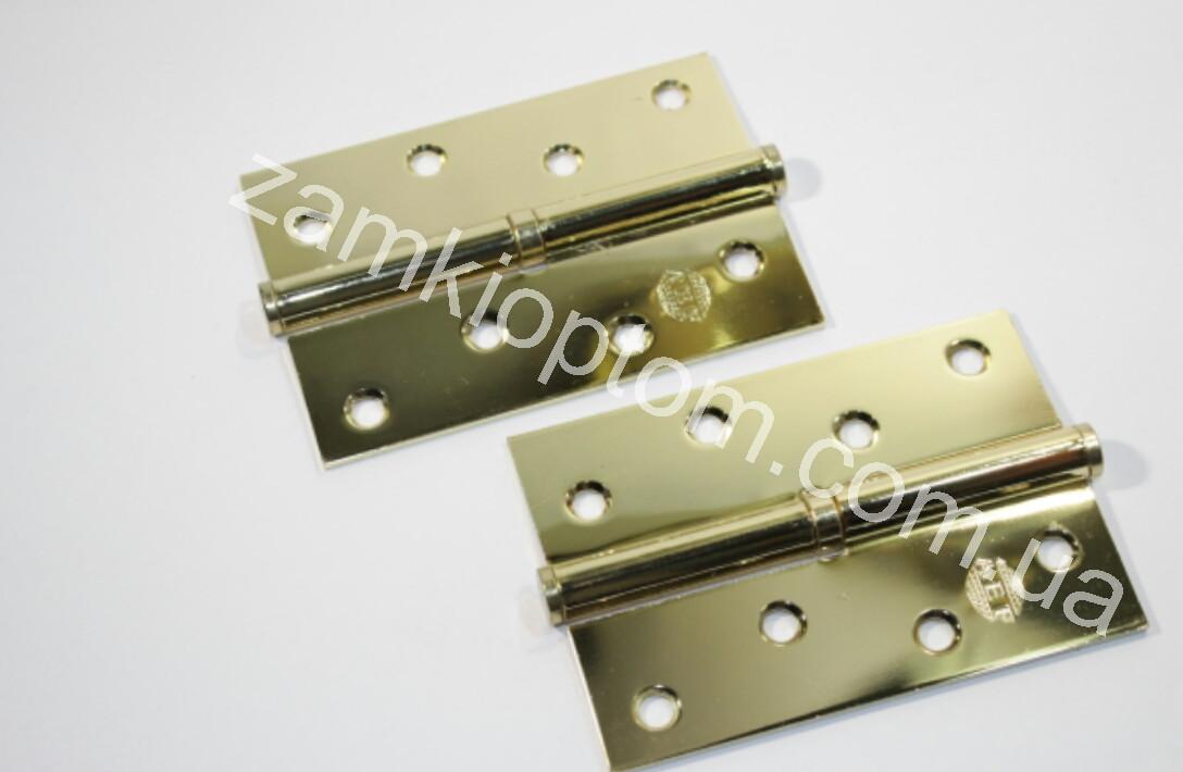 Петля межкомнатная 100 мм правая золото