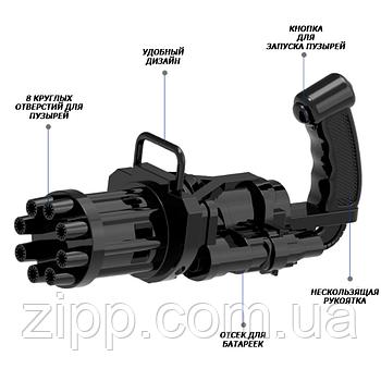 Автоматична іграшка-кулемет для створення мильних бульбашок Bubble Gun Blaster | Пістолет для мильних бульбашок