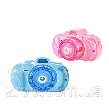 Дитячий фотоапарат для мильних бульбашок Bubble Camera | Мильні бульбашки | Фотоапарат з мильними бульбашками