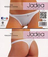 Jadea 508 bianco, Jadea 508 белые трусики стринг  из хлопка и модала, низкая посадка с тонкими боками.