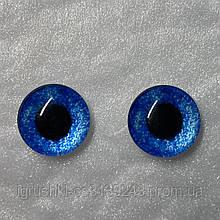 Стеклянные глаза кабашоны для игрушек 12 мм (пара)