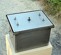 Домашняя коптильня горячего копчения с гидрозатвором (400х310х280) сталь