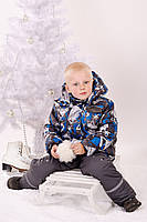 Куртка зимняя для мальчика (темно-синяя)