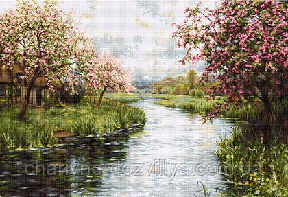 """Набор для вышивания крестиком """"Весенний пейзаж"""", фото 2"""