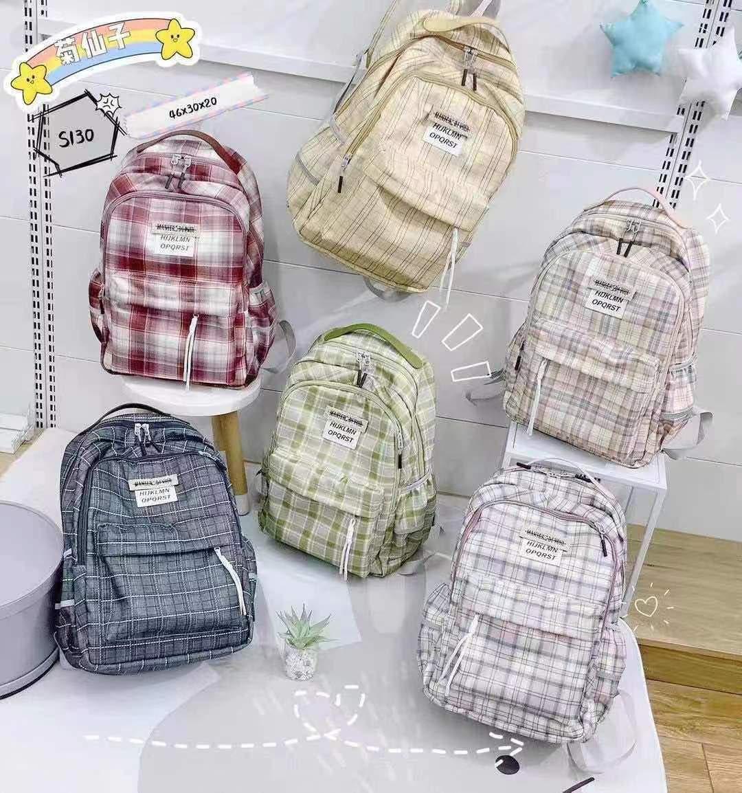 Рюкзак міський модний в клітку тканинний в різних кольорах 46*30 см Mark