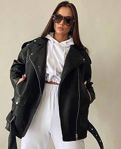 Жіноча куртка-косуха оверсайз. Фабричний Китай. Розмір: S, M, L. Тканина: екошкіра.