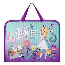 """Папка-портфель YES на блискавці з тканинними ручками """"Alice"""""""