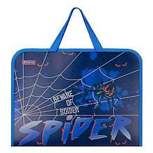 """Папка-портфель 1Вересня на блискавці з тканинними ручками """"Spider"""""""
