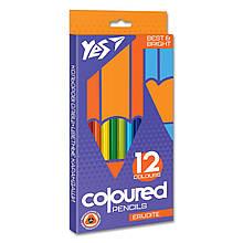 """Олівці кольорові YES 12 цв. """"Erudite"""""""
