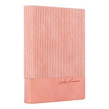 """Щоденник А6 недат Leo Planner """"Velvet"""", м'який, 352стр., рожевий"""
