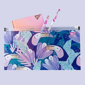 """Папка-конверт YES на блискавці Check/Travel """"Jungle"""", фото 2"""