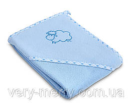 Дитячий махровий рушник з куточком Sensillo Sheep Blue
