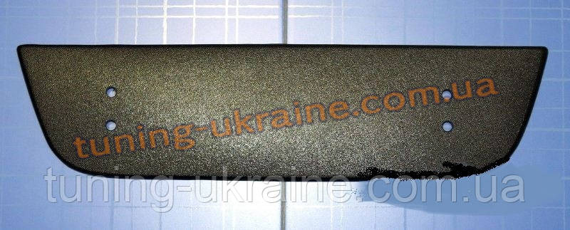 Зимняя заглушка на решетку радиатора на Fiat Doblo 2005+ низ мат