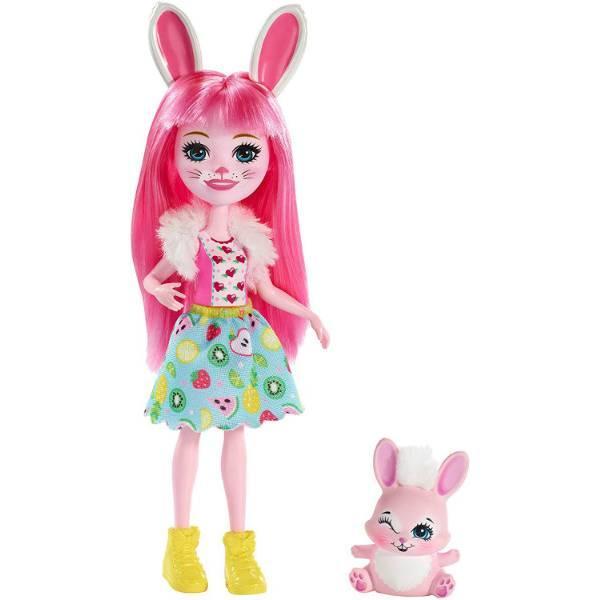 Enchantimals Кукла Зайка Бри и питомец Твист FXM73 Bree Bunny Doll