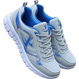 Кросівки чоловічі сіро-сині Fashion, фото 2