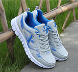 Кросівки чоловічі сіро-сині Fashion, фото 3