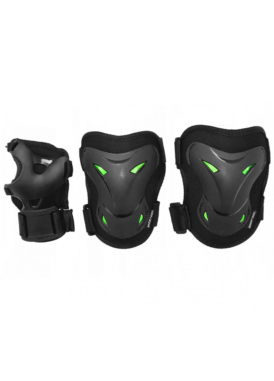 Комплект захисний SportVida SV-KY0004-S Size S Black/Green